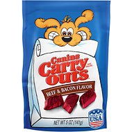 Canine Carry Outs Beef & Bacon Flavor Dog Treats, 5-oz bag
