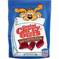 Canine Carry Outs Beef & Bacon Flavor Dog Treats, 25-oz bag