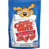 Canine Carry Outs Beef Flavor Dog Treats, 5-oz bag