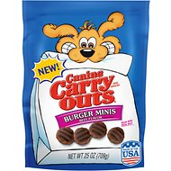 Canine Carry Outs Burger Minis Beef Flavor Dog Treats