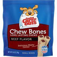 Canine Carry Outs Chew Bones Beef Flavor Dog Treats, Small, 2.8-oz bag