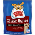 Canine Carry Outs Chew Bones Beef Flavor Dog Treats, Small
