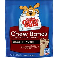 Canine Carry Outs Chew Bones Beef Flavor Dog Treats, Small, 14-oz bag