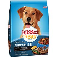 Kibbles 'n Bits American Grill Grilled USA Beef Steak Flavor Dry Dog Food, 15-lb bag