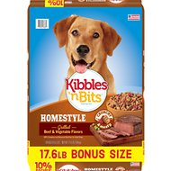 Kibbles 'n Bits Homestyle Grilled Beef & Vegetable Flavors Dry Dog Food, 17.6-lb bag