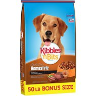 Kibbles 'n Bits Homestyle Grilled Beef & Vegetable Flavors Dry Dog Food, 50-lb bag