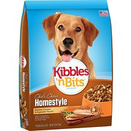 Kibbles 'n Bits Homestyle Roasted Chicken & Vegetable Flavors Dry Dog Food, 16-lb bag
