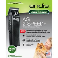 Andis AG 2-Speed+ Detachable Blade Dog & Cat Clipper, Black