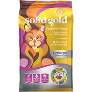 Solid Gold Furrever Young Turkey, Brown Rice & Cranberry Recipe Grain-Free Dry Cat Food, 6-lb bag