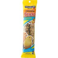 Vitakraft Triple Baked Crunch Sticks with Fruit & Egg Canary Treat, 2-pack