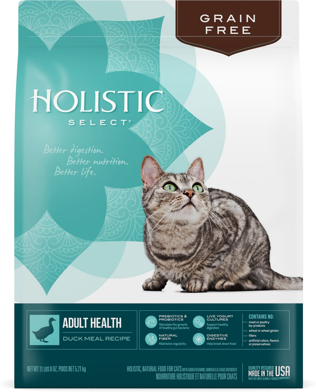 Holistic select adult health duck meal recipe dry cat food 115 lb video forumfinder Gallery