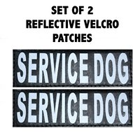 Doggie Stylz Service Dog Patch, 2 count, Large
