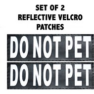 Doggie Stylz Do Not Pet Dog Patch, 2 count, Large
