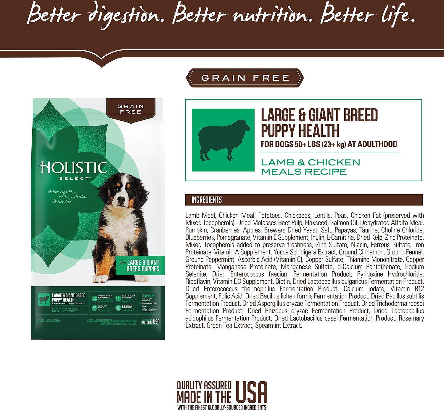 Holistic Select Grain Free Large Breed Puppy Food