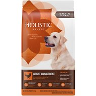 Holistic Select Weight Management Chicken Meal & Peas Recipe Dry Dog Food, 4-lb bag