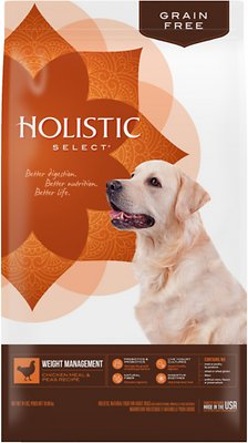 Holistic Select Weight Management Chicken Meal & Peas Recipe Dry Dog Food