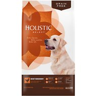 Holistic Select Weight Management Chicken Meal & Peas Recipe Dry Dog Food, 24-lb bag