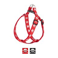 Sassy Dog Wear Reflective Skull Dog Harness, Red, Large
