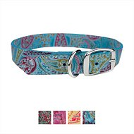 OmniPet Paisley Leather Dog Collar, Turquoise, 14-in