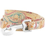 OmniPet Paisley Leather Dog Leash, Sand, 4-ft, 3/4-in
