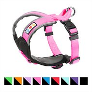 Pawtitas Reflective Padded Dog Harness, Pink, XX-Small