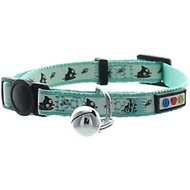 Pawtitas Glow In The Dark Cat Collar, Teal