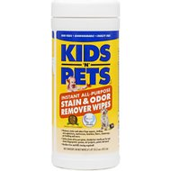 KIDS 'N' PETS Instant All Purpose Stain & Odor Remover Wipes, 40 count