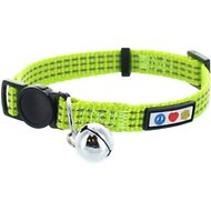 Pawtitas Reflective Cat Collar, Green
