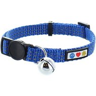 Pawtitas Reflective Cat Collar, Blue