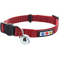 Pawtitas Reflective Cat Collar, Red