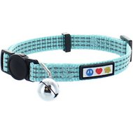 Pawtitas Reflective Cat Collar, Teal