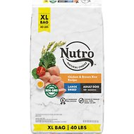 Nutro Wholesome Essentials Large Breed Adult Farm Raised Chicken, Brown Rice & Sweet Potato Recipe Dry Dog Food, 40-lb bag