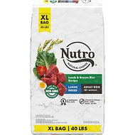 Nutro Wholesome Essentials Large Breed Adult Pasture Fed Lamb & Rice Recipe Dry Dog Food, 40-lb bag