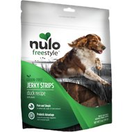 Nulo Freestyle Grain-Free Duck & Plum Jerky Dog Strips, 5-oz bag