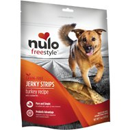 Nulo Freestyle Grain-Free Turkey & Cranberry Jerky Dog Strips, 5-oz bag