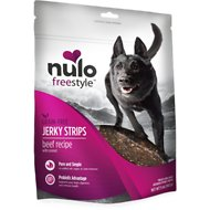 Nulo Freestyle Grain-Free Beef & Coconut Jerky Dog Strips, 5-oz bag