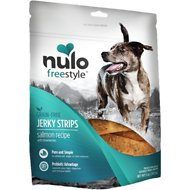 Nulo Freestyle Grain-Free Salmon Recipe With Strawberries Jerky Dog Treats, 5-oz bag