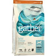 Gather Wild Ocean Line-Caught Cod Dry Dog Food, 16-lb bag