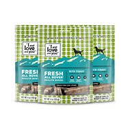 I and Love and You Fresh All Rover Breath Bones Grain-Free Dental Dog Treats, Regular Chews, 4-oz bag, 3 pack