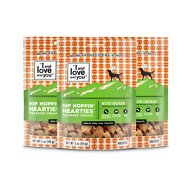 I and Love and You Hip Hoppin' Hearties Grain-Free Chicken Dog Treats, 5-oz bag, 3 pack