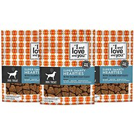 I and Love and You Super Smarty Hearties Grain-Free Salmon Dog Treats, 5-oz bag, 3 pack