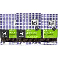 I and Love and You Nice Jerky Bites Beef & Lamb Grain-Free Dog Treats, 4-oz bag, 3 pack