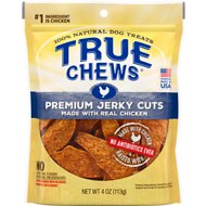 True Chews Premium Jerky Cuts with Real Chicken Dog Treats, 4-oz bag