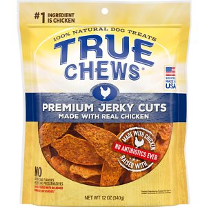 True Chews Premium Jerky Cuts with Real Chicken Dog Treats, 12-oz bag
