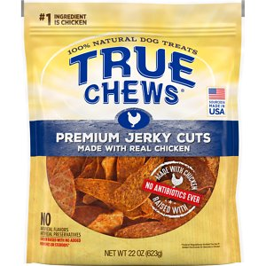 True Chews Premium Jerky Cuts with Real Chicken Dog Treats, 22-oz bag
