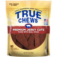 True Chews Premium Jerky Cuts with Real Sirloin Steak Dog Treats, 10-oz bag