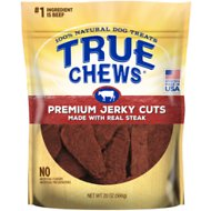 True Chews Premium Jerky Cuts with Real Sirloin Steak Dog Treats, 20-oz bag