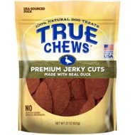 True Chews Premium Jerky Cuts with Real Duck Dog Treats, 22-oz bag