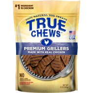 True Chews Premium Grillers with Real Chicken Dog Treats, 12-oz bag
