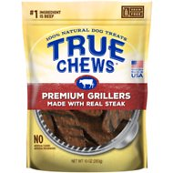 True Chews Premium Grillers with Real Steak Dog Treats, 10-oz bag